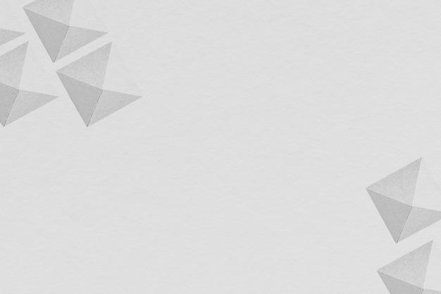 Szary geometryczny wzór papieru rękodzieła w tle