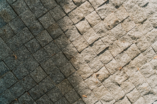 Szary kamienny bruk tekstura