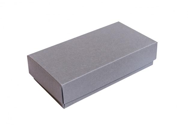 Szary karton z pokrywą
