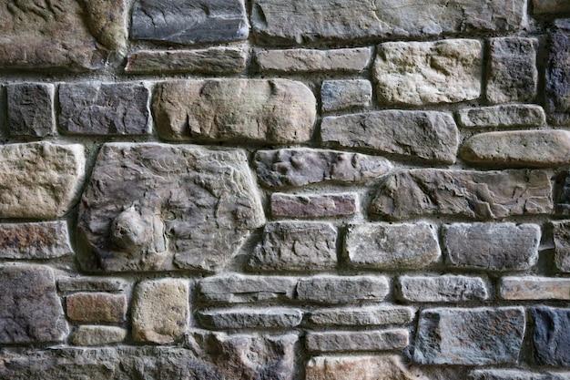 Szary kolor nowoczesnego stylu dekoracyjna nierówna popękana prawdziwa kamienna ściana z cementowym tłem