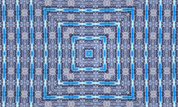 Szary marmur kalejdoskop na niebieskim tle. malarstwo abstrakcyjne linie. marmurowe akwarele. kolor srebrnego kalejdoskopu. biały witraż art. marmurowa tekstura. farba mieszana