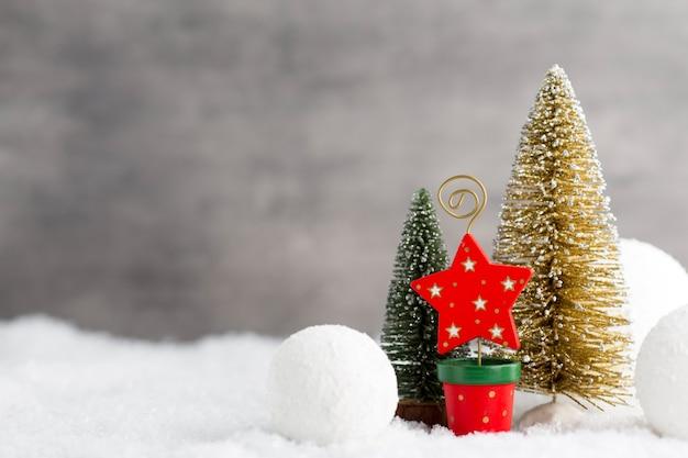 Szary metal, dekoracja świąteczna
