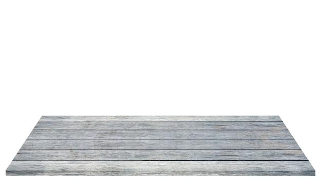 Szary szablon deski drewnianej, na białym tle