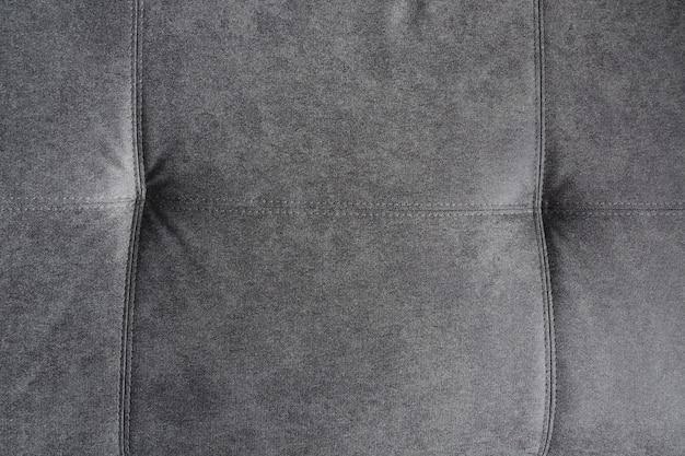 Szary wzór tkaniny ze szwem. tekstura, abstrakcyjne tło. ścieśniać
