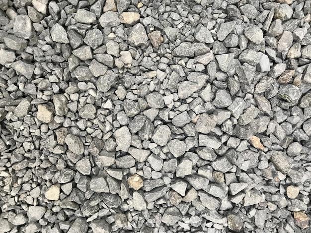 Szary żwir kamyk małe kamienie tekstura tło dekoracyjne