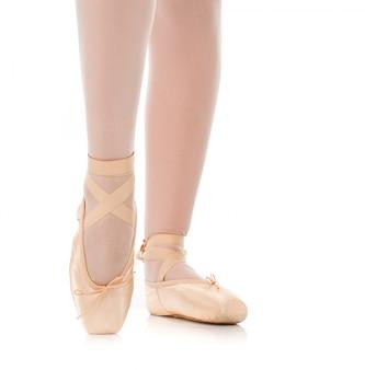 Szczegół baletniczego tancerza cieki