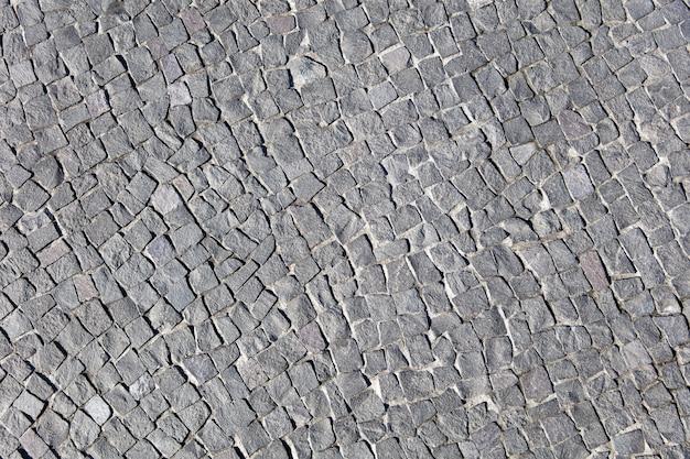 Szczegół blokowa kamienna droga przemian