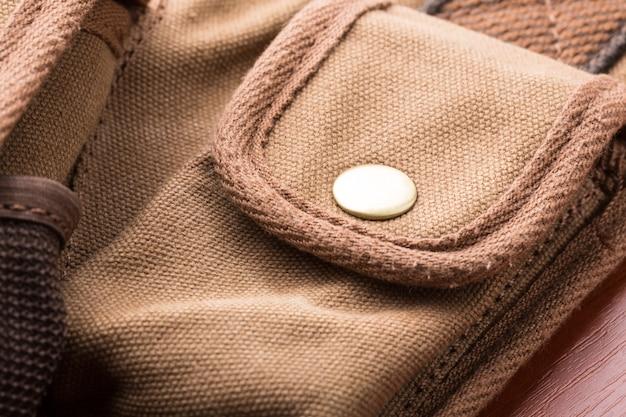 Szczegół kieszeni torby