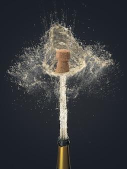Szczegół korek butelka szampana