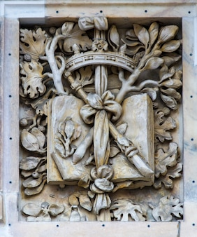 Szczegół na katedrze w mediolanie, włochy
