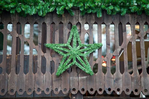 Szczegół na zima domu w porte du soleil, francja