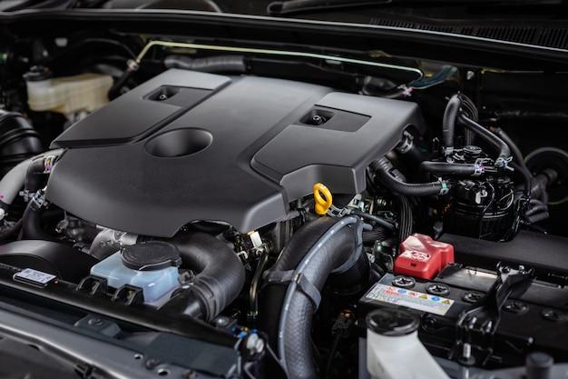 Szczegół nowego silnika samochodu