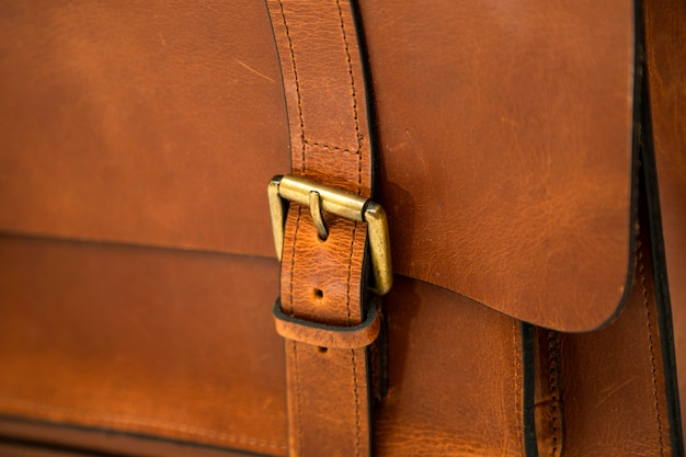 Szczegół skórzanej torby