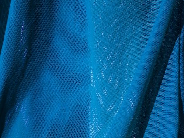 Szczegół tekstura niebieski materiał