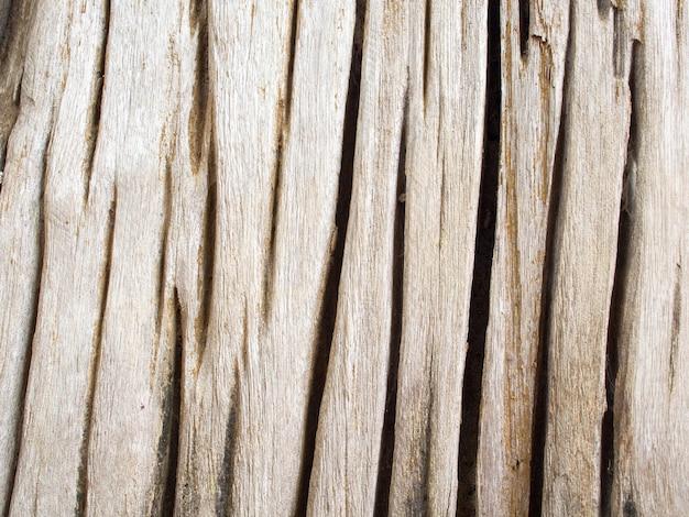 Szczegół zbliżenie teksturowanej kory stary drewniany pęknięty