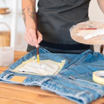 Szczegółowa kieszeń do malowania ręcznego