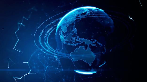 Szczegółowa wirtualna planeta ziemia