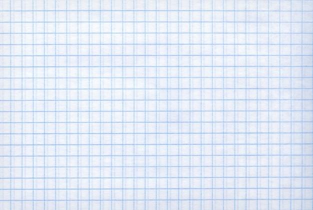 Szczegółowe puste tekstury papieru matematyki jako tło