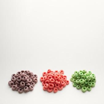 Szczegółowy asortyment kolorowych płatków