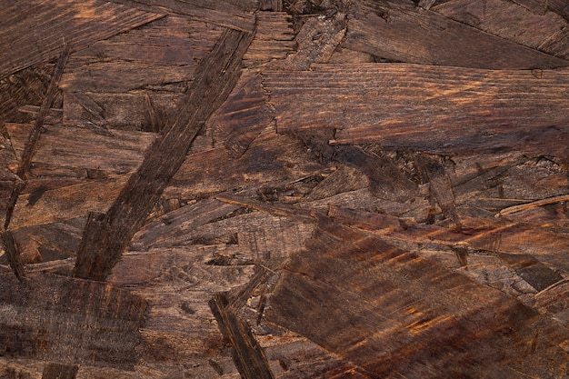 Szczegółowy brown drewniany textured tło