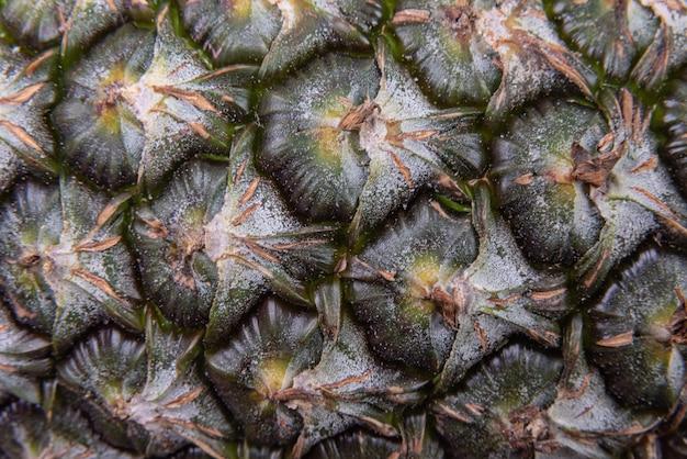 Szczegółowy makro owoców ananasa
