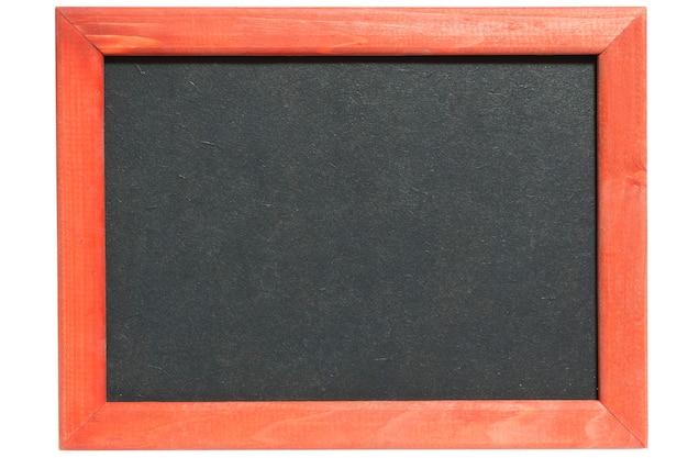 Szczegółowy obraz czystej tablicy z drewnianą ramą
