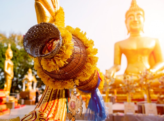 Szczegóły buddyjska świątynia w tajlandia.