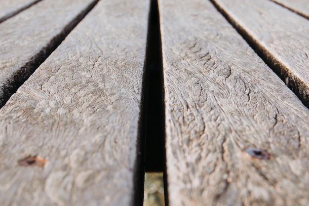 Szczegóły drewniany most z bliska