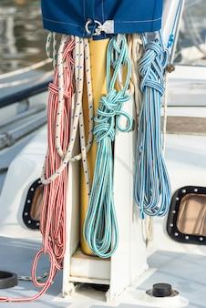 Szczegóły jachtu rekreacyjnego