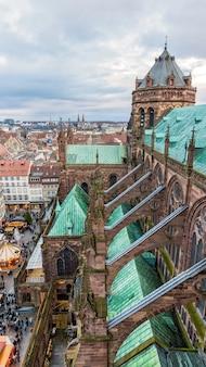 Szczegóły katedry w strasburgu