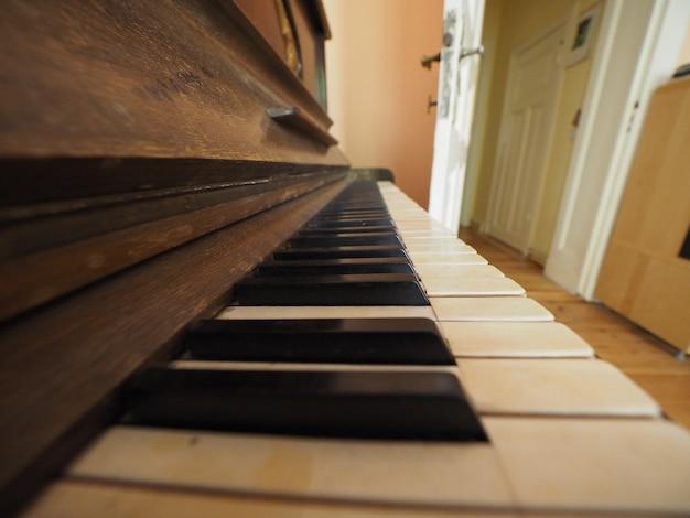 Szczegóły klawiszy klawiatury fortepianu