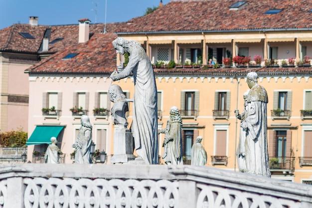 Szczegóły prato della valle w padwie, włochy