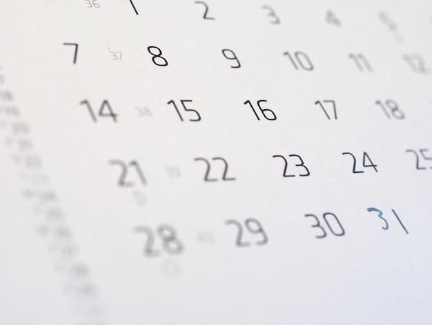 Szczegóły strony kalendarza