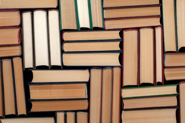 Szczegóły tła książek w twardej oprawie