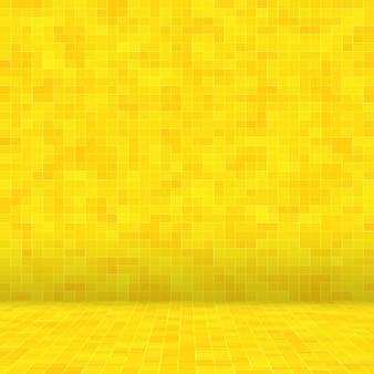 Szczegóły żółtego złota mozaiki tekstury abstrakcyjnej ceramicznej mozaiki ozdobionej budynku abstrakcyjnej bezszwowej pat...