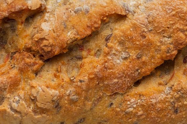 Szczelnie-do góry skorupa chleba z nasionami