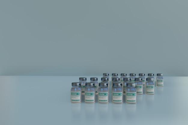 Szczepionkowy wirus koronowy w butelce z płynem