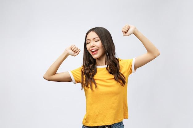 Szczęście azjatyckich kobiet kończy się zwycięstwem lub sukcesem