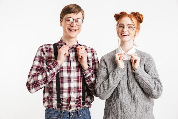 Szczęśliwa para szkolnych frajerów