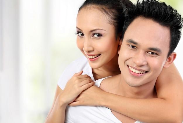 Szczęśliwa para uśmiech