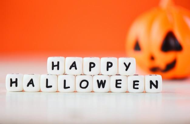 Szczęśliwe bloki halloween