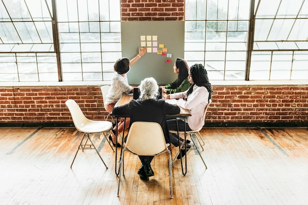 Szczęśliwe różnorodne pomysły na burzę mózgów dla biznesu