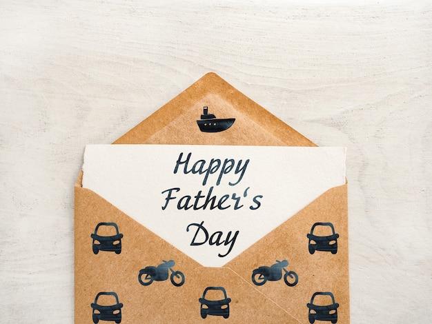 Szczęśliwego dnia ojca. piękna kartka z pozdrowieniami. zbliżenie, widok z góry. gratulacje dla bliskich, krewnych, przyjaciół i współpracowników