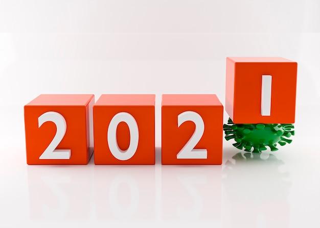 Szczęśliwego nowego roku 2021 i koronawirusa