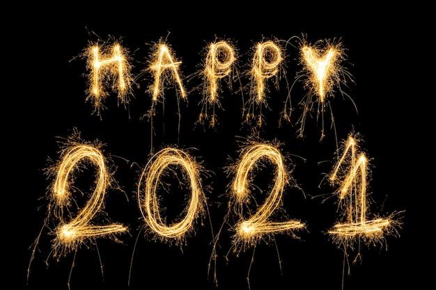 Szczęśliwego nowego roku 2021 koncepcja