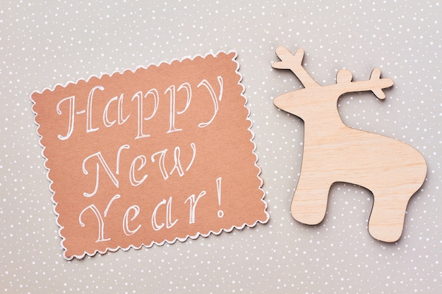 Szczęśliwego nowego roku drewniane tła.