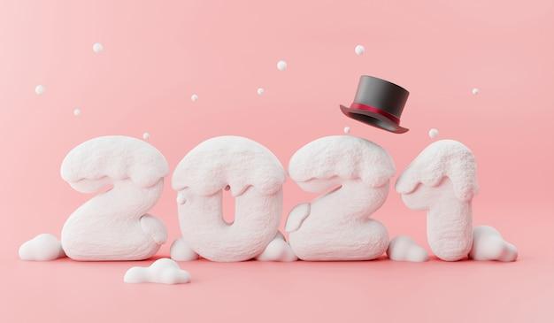 Szczęśliwego nowego roku ze śniegiem