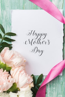 Szczęśliwy dzień matki karty z bliska