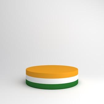 Szczęśliwy dzień niepodległości w indiach makieta dekoracji tła podium