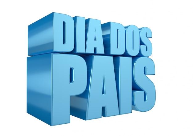 Szczęśliwy dzień ojca w języku portugalskim. brazylijski znaczek promocyjny